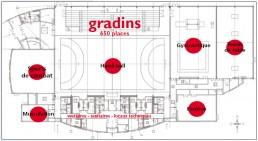 Plan du complexe sportif Didier Bianco