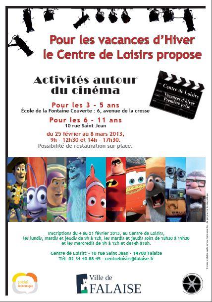 Affiche centre de loisirs mairie de falaise for Centre de loisirs 78